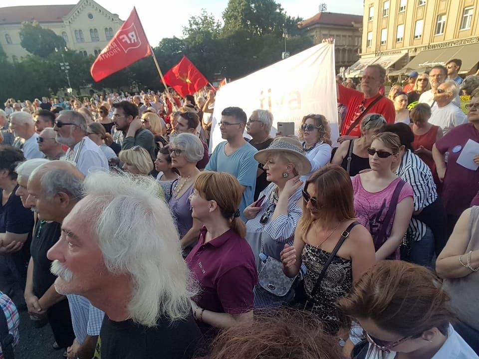 Foto: Prosvjed protiv uklanjanja imena Trga maršala Tita u Zagrebu (Foto: Facebook)