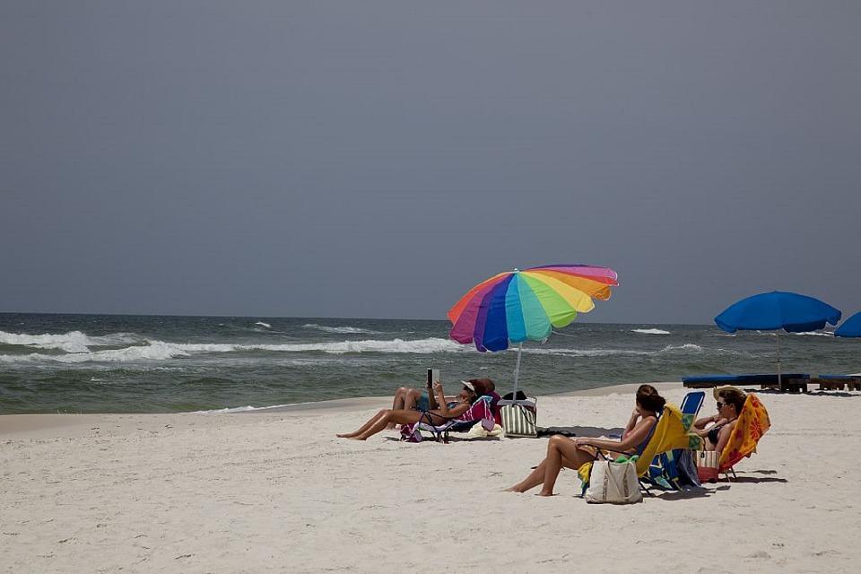 plaža, sunčanje