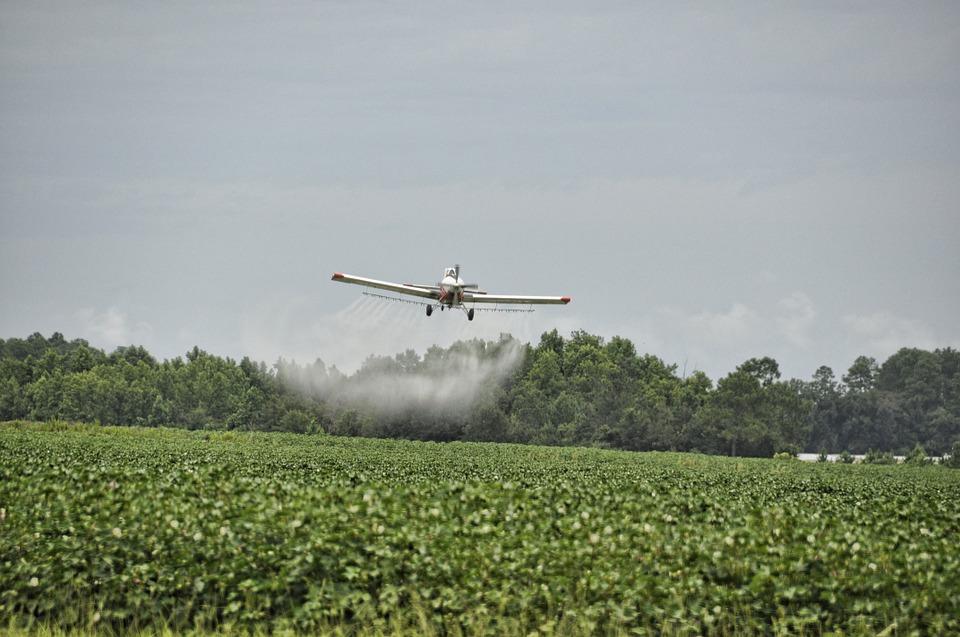 herbicid, prskanje, zrakoplov