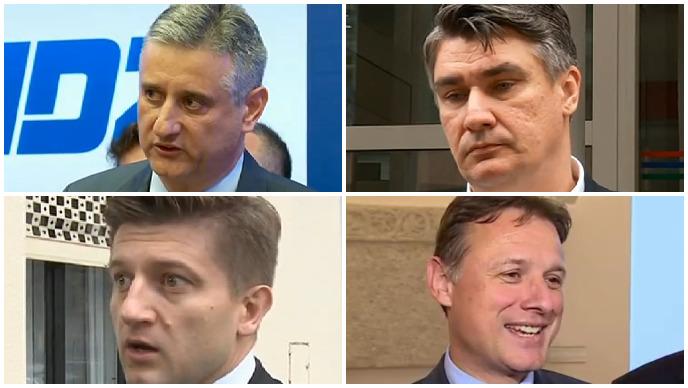 karamarko, milanović, jandroković, marić