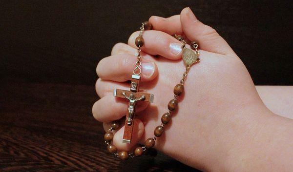 molitva, žena, krunica