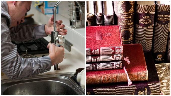 vodoinstalater, knjižnica