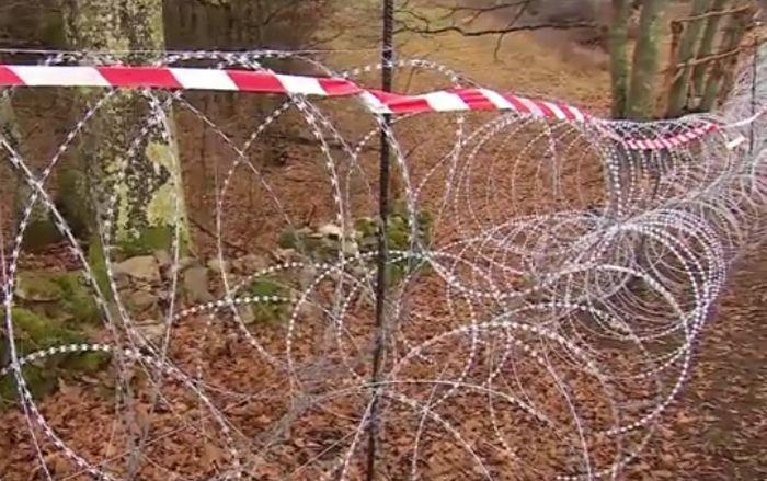 žilet žica, slovenija, granica