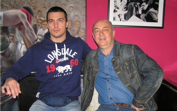 Matko Parlov, sin legendarnog boksača, i novinar Damir Strugar