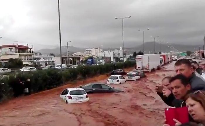 poplava, grčka