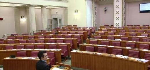 Česta slika u Saboru, kada se zastupnik obraća praznoj dvorani