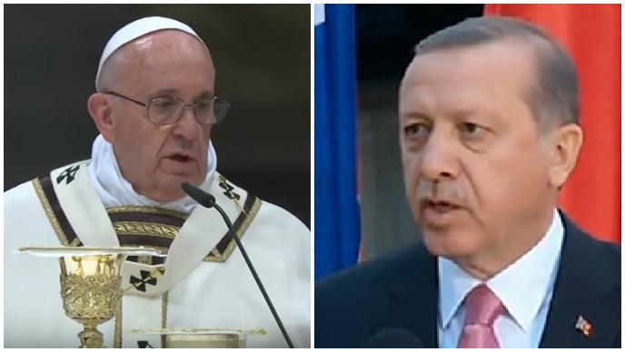 papa franjo, erdogan