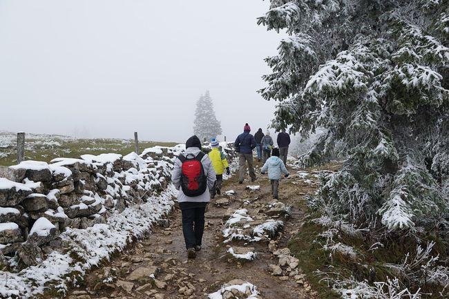 zima, hodanje