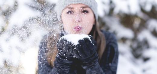 zima, snijeg, djevojka