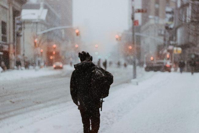 zima, hodanje, pješačenje