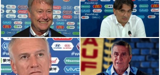 Age Haraide, Zlatko Dalić, Didier Deschamps iOscar Tabarez