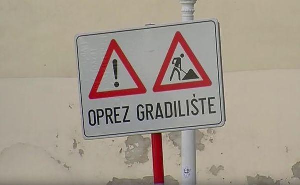 oprez, gradilište, znak