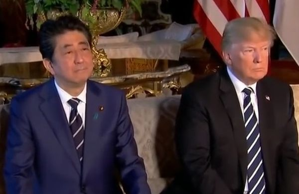 Shinzo Abe i Donald Trump