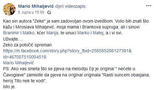 mario mihaljević, faksimil