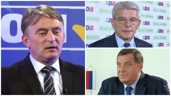 džaferović, dodik, komšić