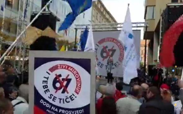 prosvjed, sindikati