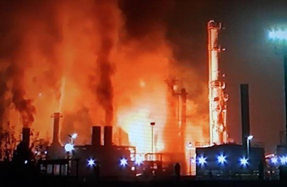 rafinerija, požar