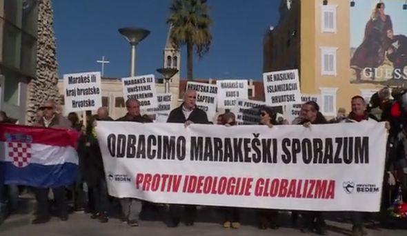 split, prosvjed, marakeški sporazum