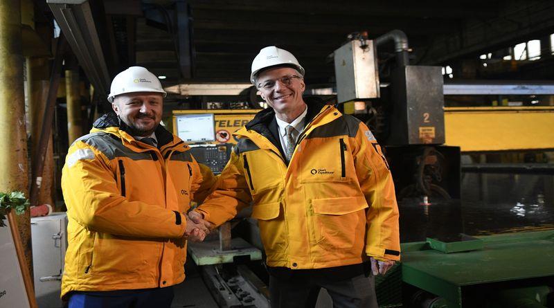 Novi posao za Brodosplit - čelnici tvrtki Andrew White i Tomislav Debeljak