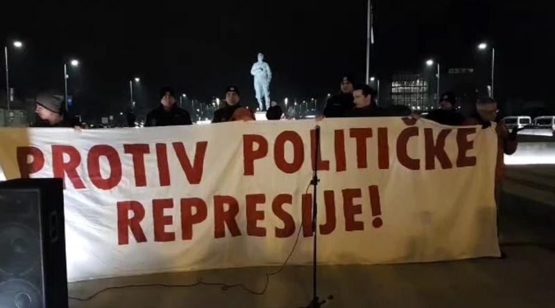 prosvjed, spomenik tuđmanu