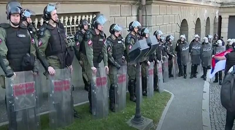 policija, beograd, prosvjed