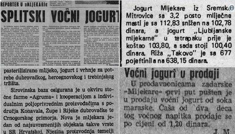 """I ovi isječci iz novina govore kako predsjednica nije u pravu u """"jogurtizaciji"""" onog jugoslavenskog vremena"""