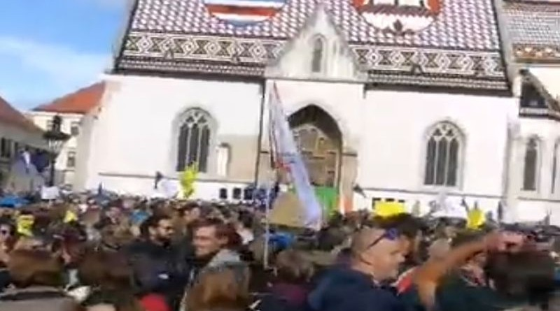 markov trg, prosvjed