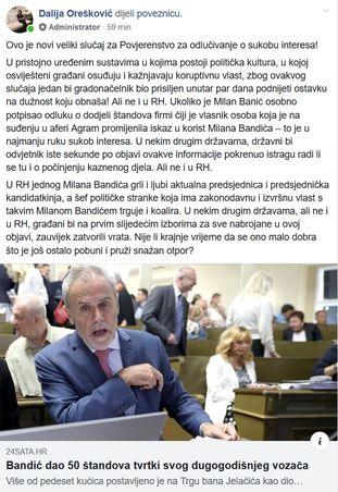 orešković, faksimil