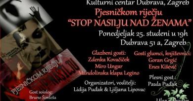 plakat, pjesmom protiv nasilja