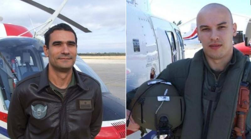 Bojnik Marin Klarin i natporučnik Tomislav Baturina, koji su tragično stradali u padu helikoptera (Foto: MORH)