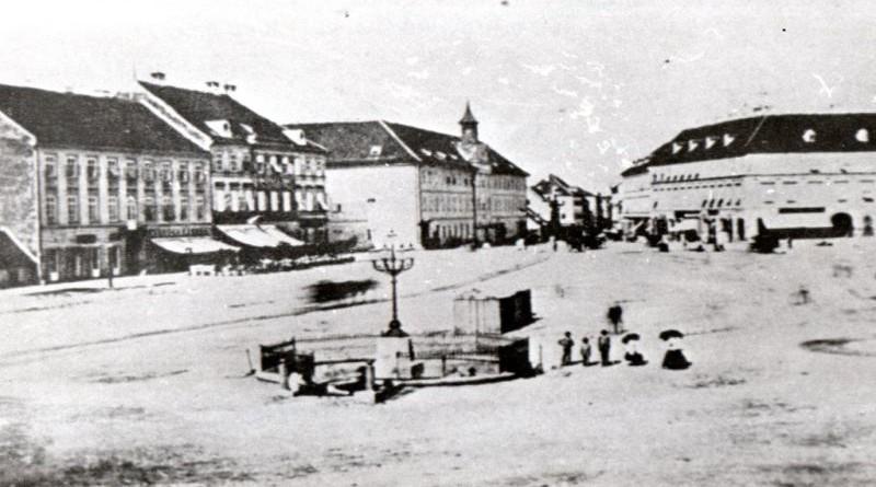 Pogled na Harmicu, današnji središnji trg Zagreba, Jelačićev plac, kako ga popularno zovu Zagrepčani